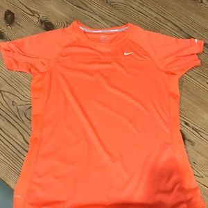 Nike Dri-fit orange workout top, short sleeves